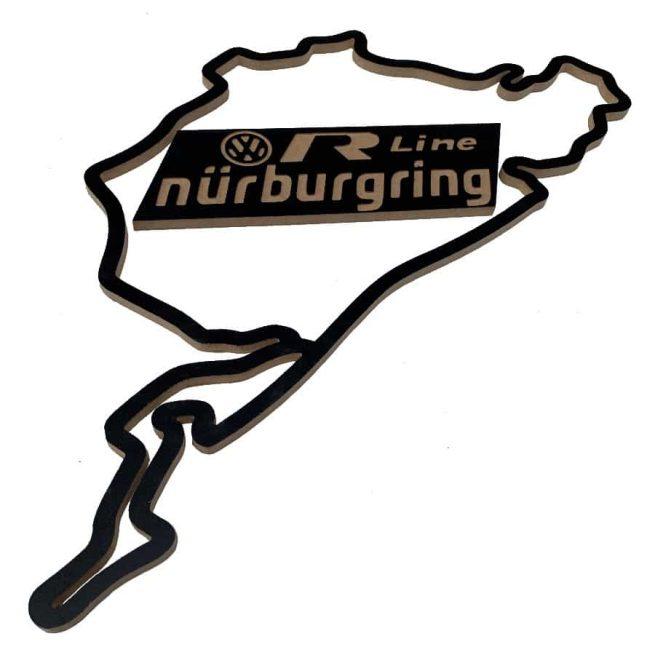 circuito nurburgring madera vw r rline