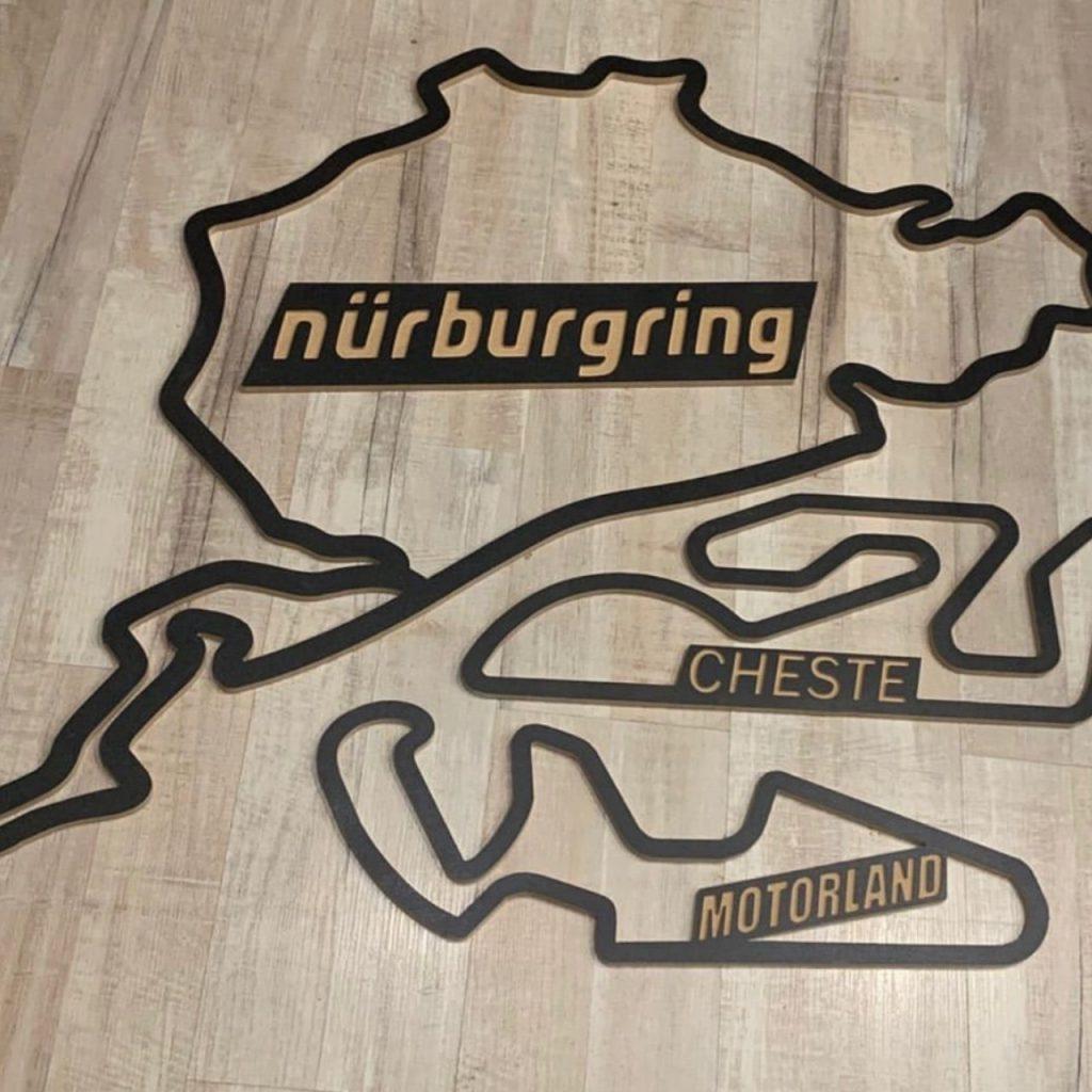 nurburgring en madera
