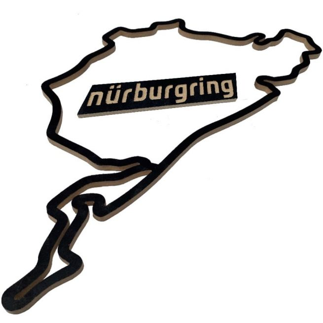 maqueta nurburgring madera