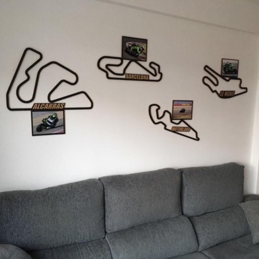 Circuito de Lemans Motogp Francia Madera