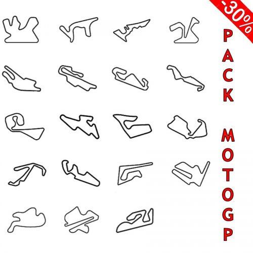 pack motogp trazados de madera